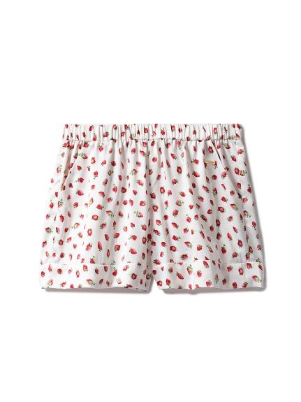 草莓印花短褲