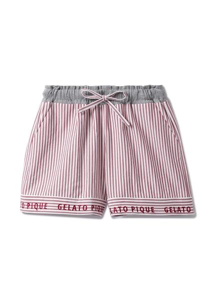 棉質細條紋短褲