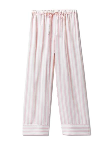 莫代爾緞面條紋長褲