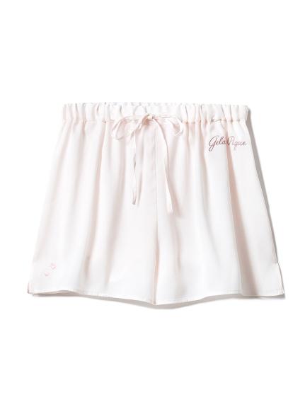 【SAKURA FAIR】櫻花刺繡緞面短褲