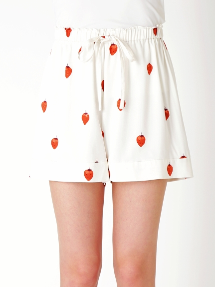 【PARIYA】草莓緞面襯衫