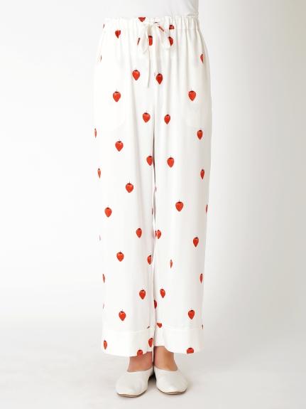 【PARIYA】草莓緞面長褲