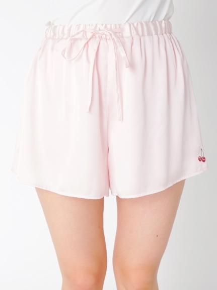 刺繡緞面短褲
