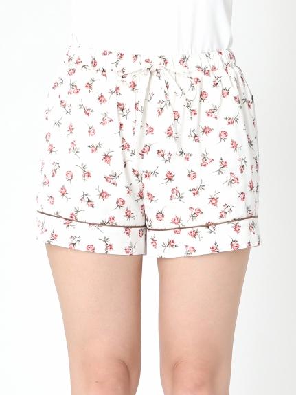 小玫瑰花緞面短褲