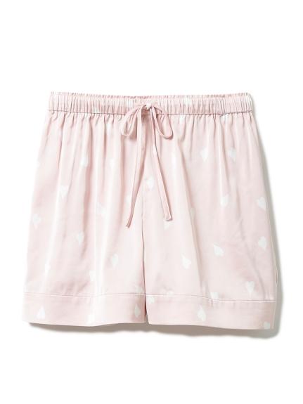 櫻花瓣緞質短褲