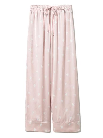櫻花瓣緞質長褲