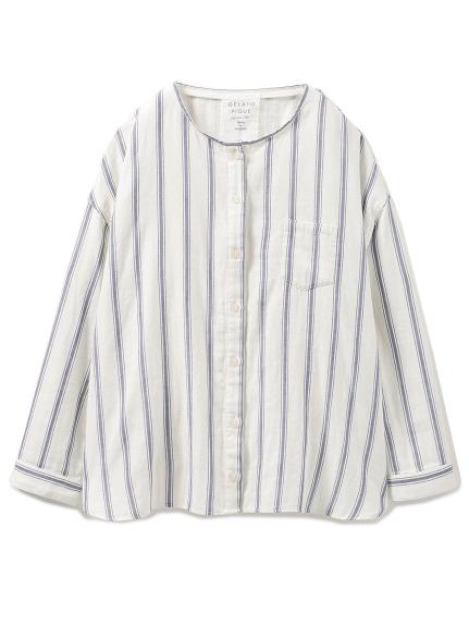 棉質直條紋襯衫