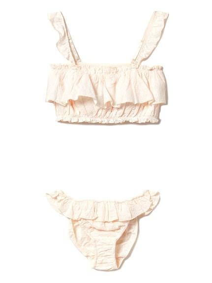 棉質蕾絲內衣褲組