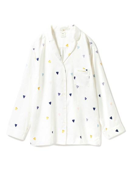 愛心緞面襯衫睡衣