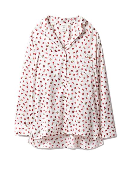 草莓印花襯衫睡衣