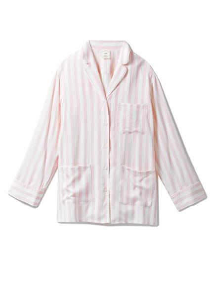 莫代爾緞面條紋睡衣