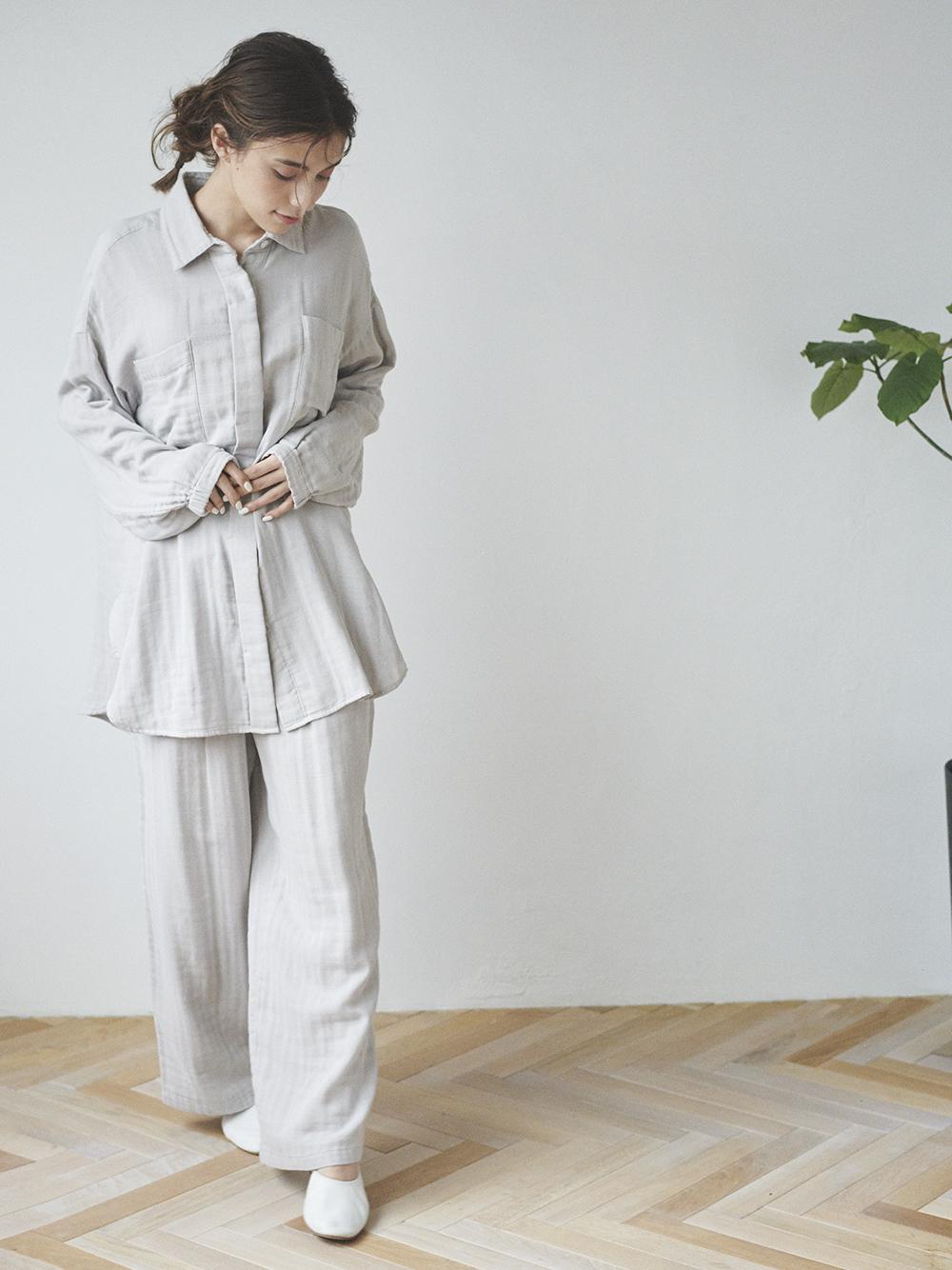 純棉紗襯衫
