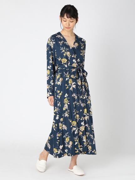 東洋花朵長袍罩衫