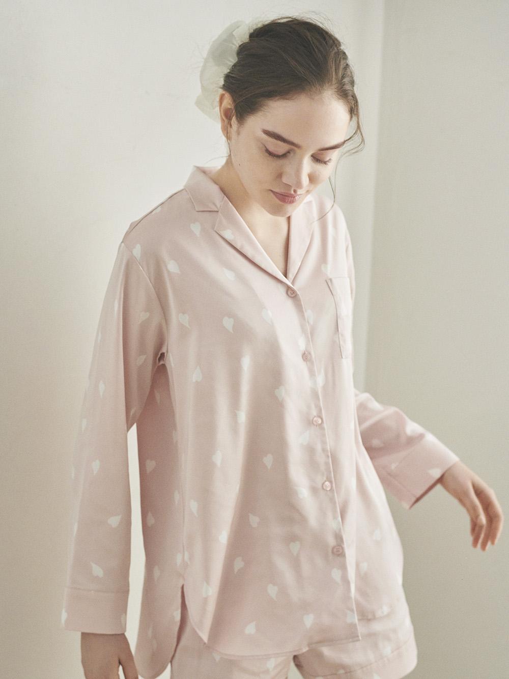 櫻花瓣緞質襯衫