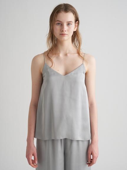 緞澤蕾絲細節罩杯式背心