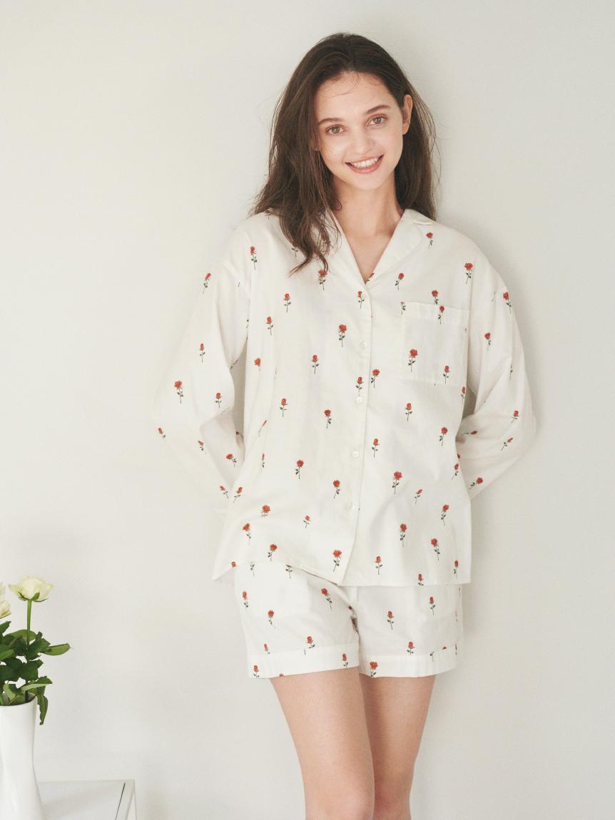 印花法蘭絨襯衫