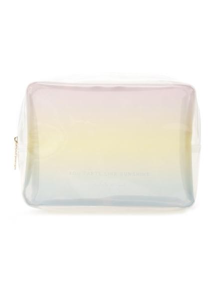 漸層色彩透明收納包