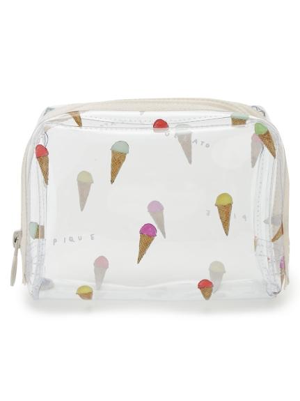 冰淇淋插畫塑膠化妝包