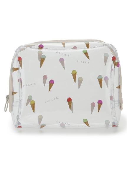 冰淇淋插畫塑膠化妝包(大)