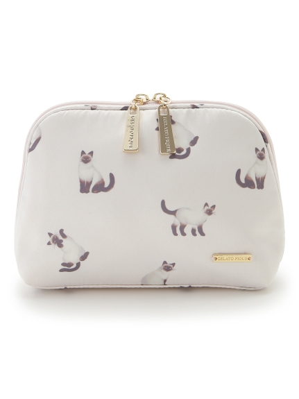 暹羅貓印花化妝包