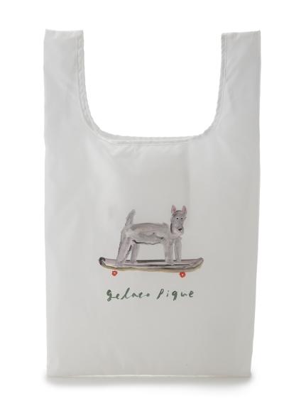 夏日插畫 狗狗滑板環保袋