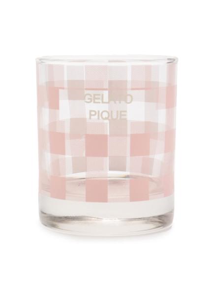 格紋玻璃杯
