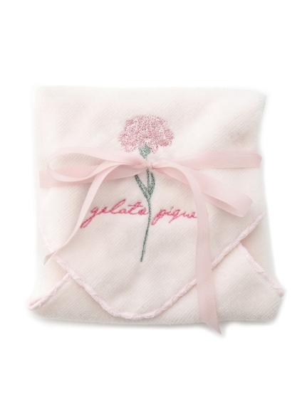 康乃馨刺繡手帕