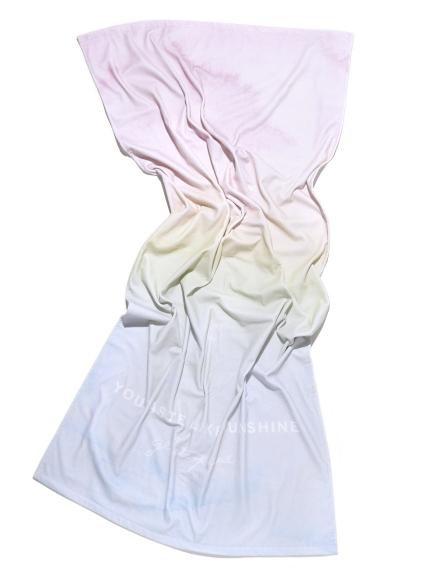 漸層色海灘巾