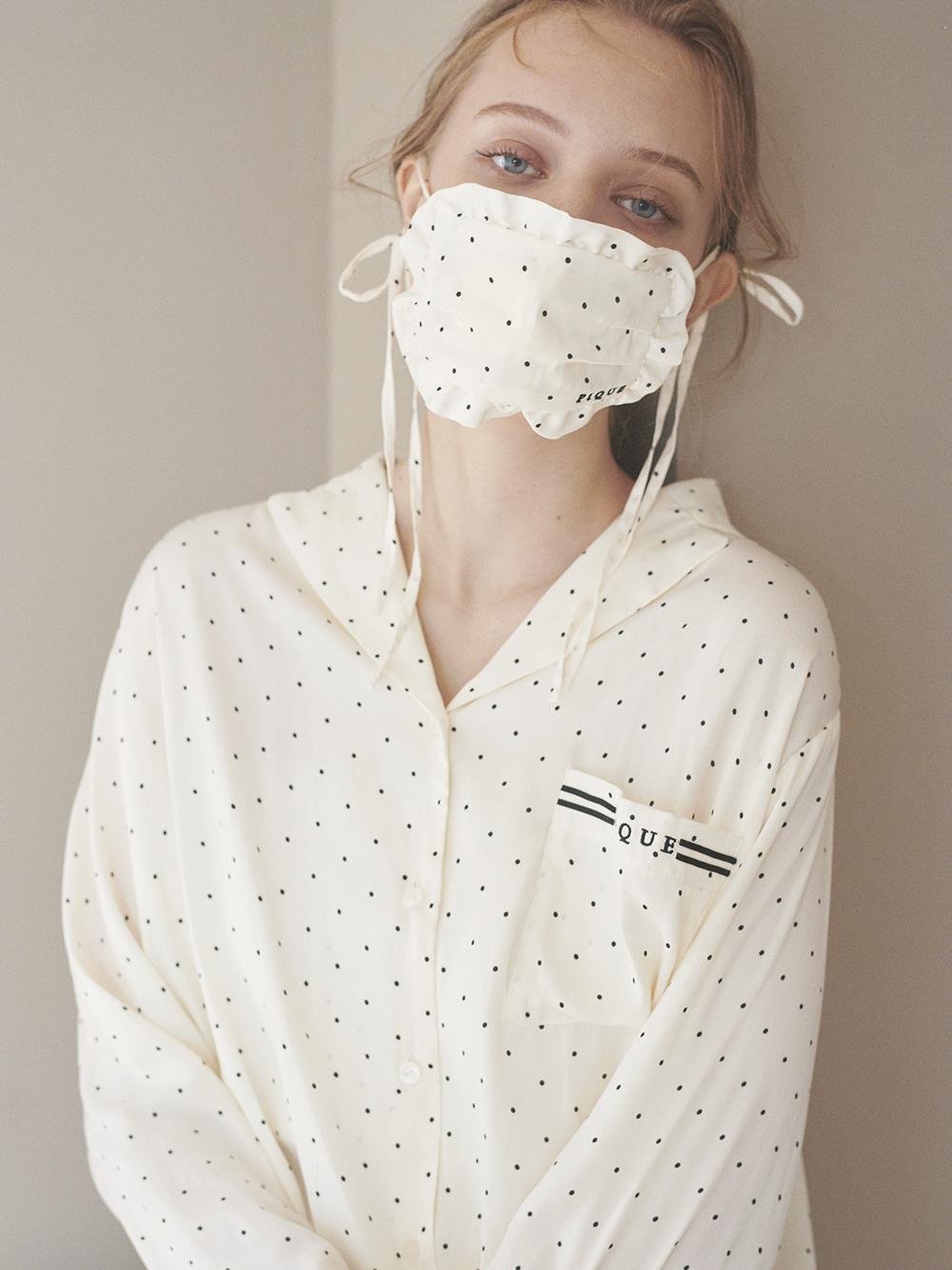 枕頭風格緞面口罩