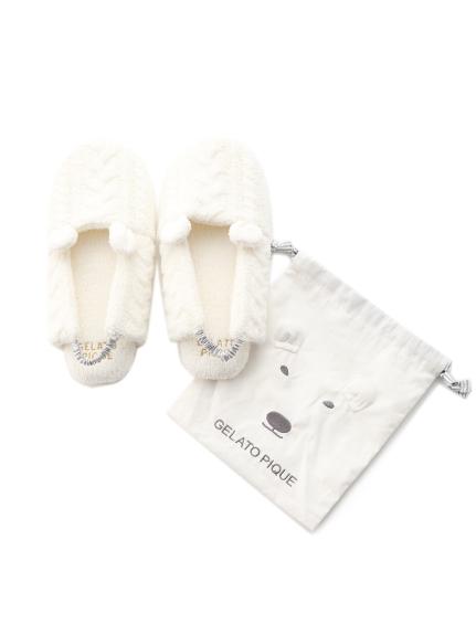 北極熊麻花室內鞋