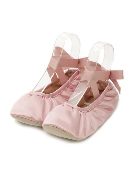 緞面芭雷舞室內鞋