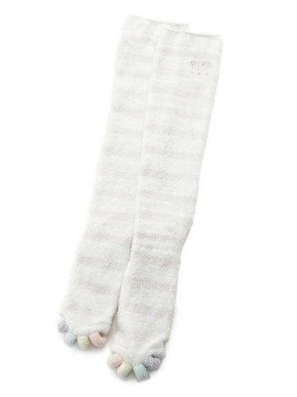 露指條紋減壓襪