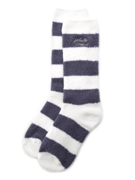 ' smoothie ' 2條紋襪子