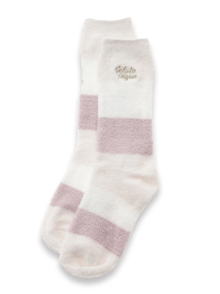 ' hot smoothie ' 3條紋襪子
