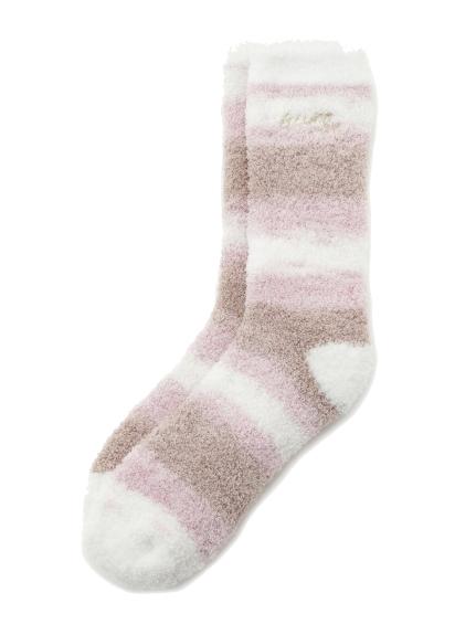 【情人節限定】 ' powder ' 提拉米蘇條紋襪子