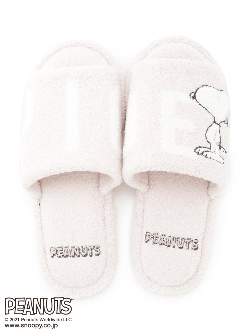 【PEANUTS】LOGO室內拖鞋