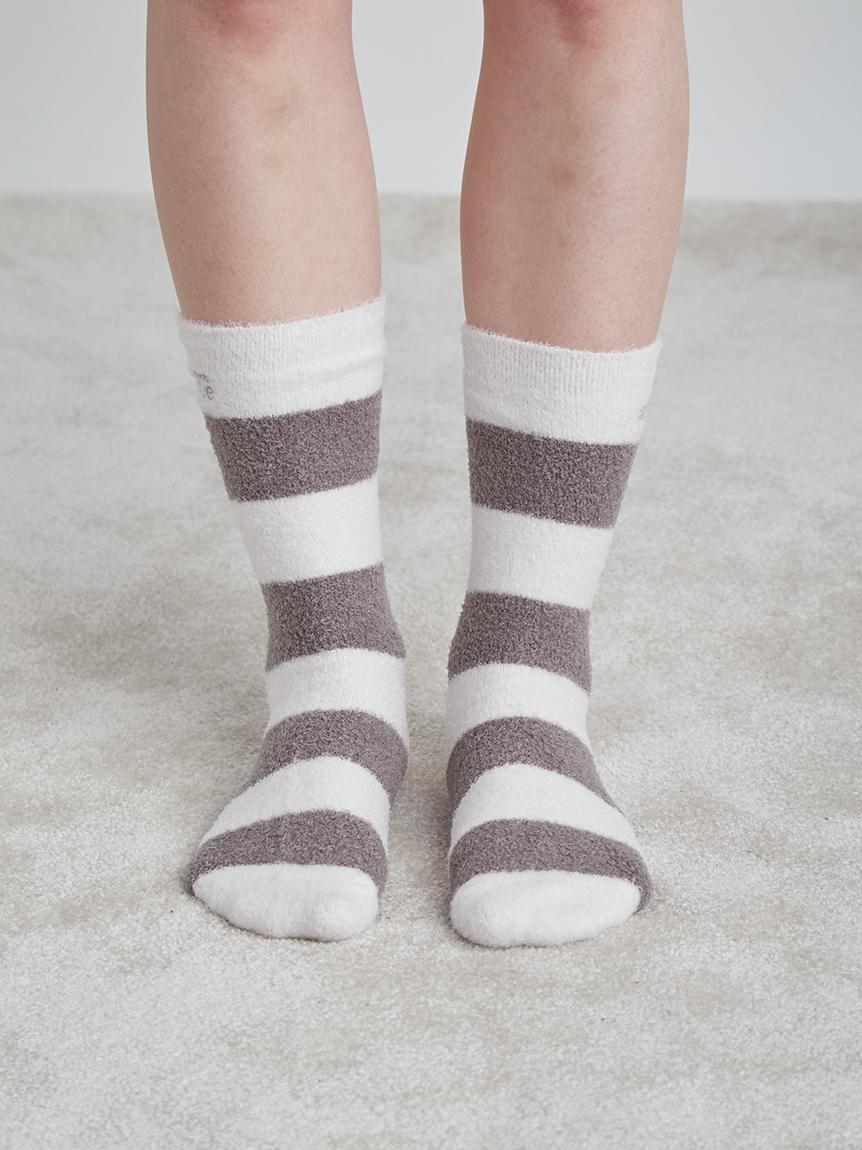 smoothie雙色條紋短襪