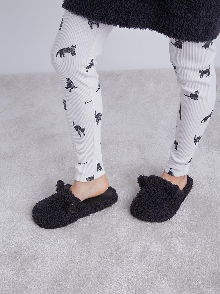【LADIES】【Halloween限定】GELATO黑貓室內拖鞋
