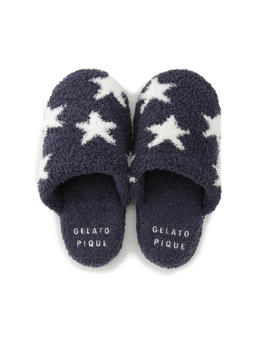 星星緹花室內拖鞋