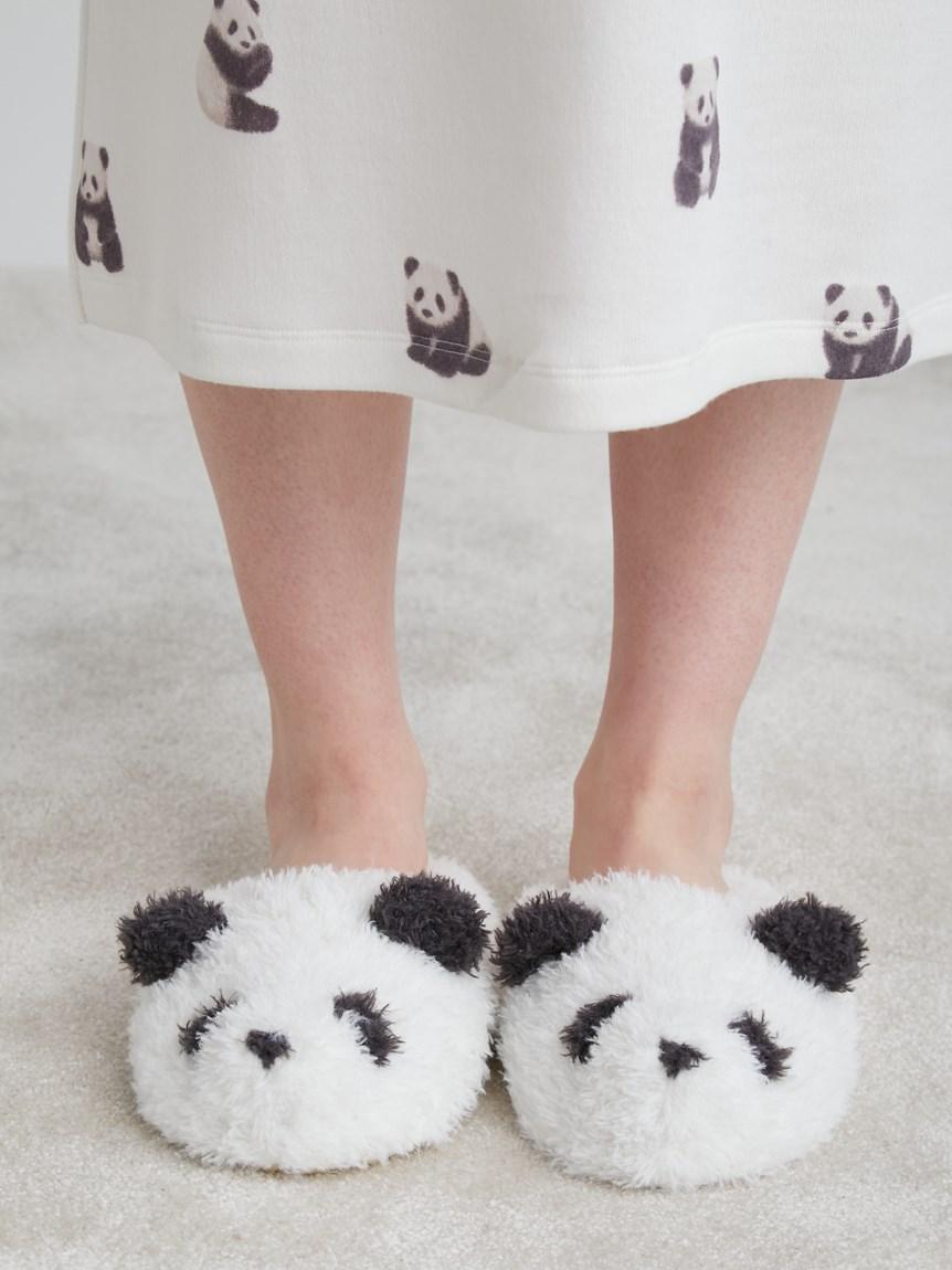 熊貓造型室內拖鞋