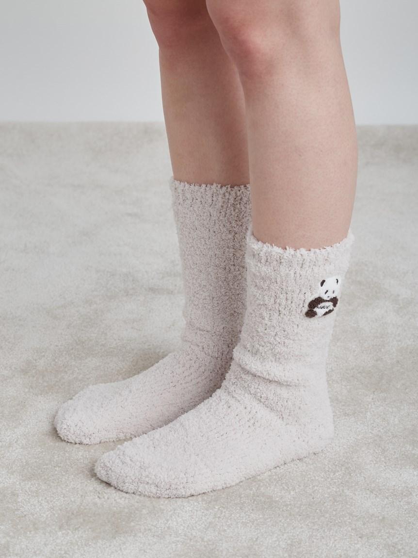 熊貓刺繡毛襪