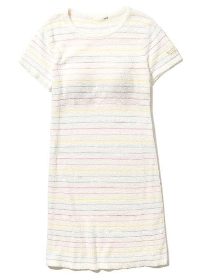 ' smoothie ' 配色細條紋連身裙