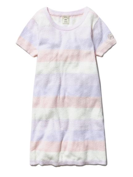' smoothie ' 粉彩條紋連身裙