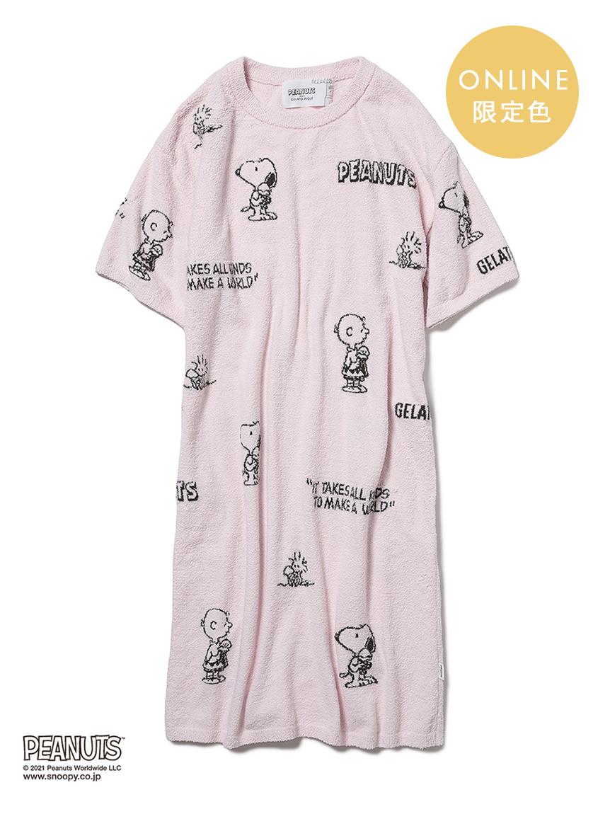 【PEANUTS】滿版圖案緹花洋裝