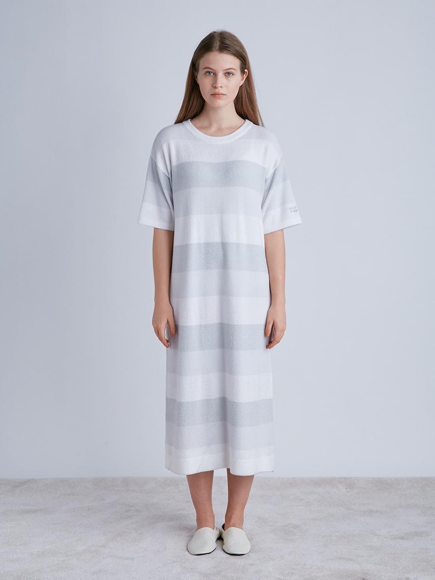 再生smoothie 三色條紋洋裝