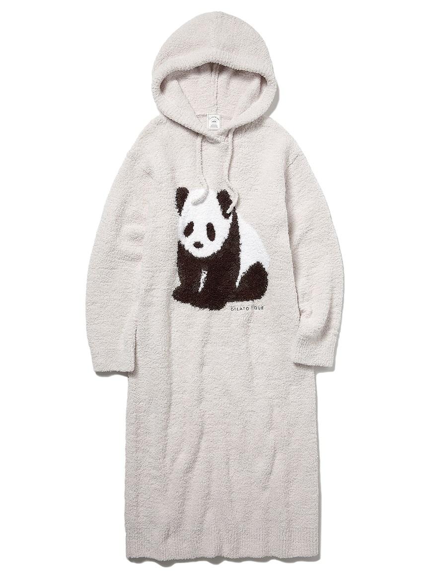 熊貓緹花連帽上衣