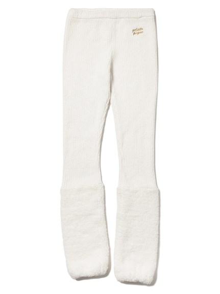 ' gelato ' 拼接襪套羅紋內搭褲