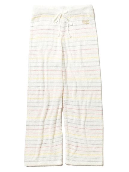 ' smoothie ' 配色細條紋居家長褲