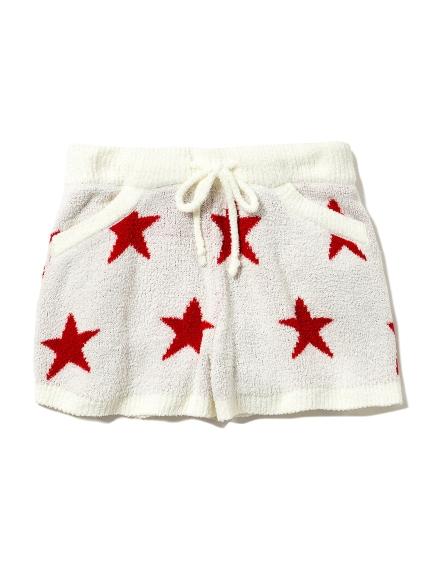 ' aqua dry ' 動物刺繡短褲