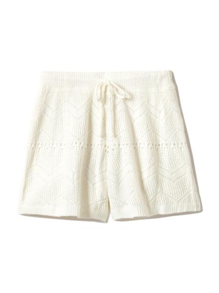 ' smoothie ' 簍空編織短褲